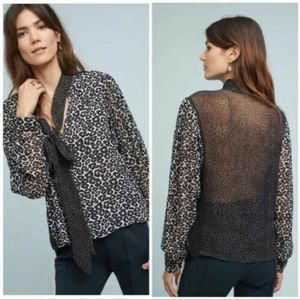 Conditions Apply Anthropologie Marion Leopard Top